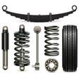 car suspension parts vector image