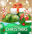 christmas greeting card with the words merry vector image vector image
