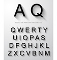 Classic alphabet with modern long shadow effect vector image