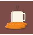 coffee and pastry image vector image
