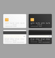 credit card mockup vector image vector image