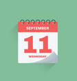 day calendar with date september 11 vector image vector image
