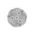 decorative black floral mandala coloring page book vector image