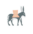 decorative donkey in egyptian style vector image vector image