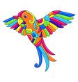 decorative ornamental tropical parrot mexican vector image
