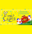 easter greeting card banner place for your text vector image vector image