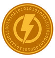 electricity digital coin vector image vector image