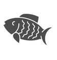 fish solid icon animal vector image