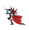 furious count dracula screaming vampire cartoon vector image vector image