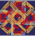 geometric retungle print vector image vector image