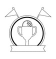 golf trophy cup championship award icon vector image