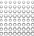 Grey curved polygon shape icon collection vector image vector image