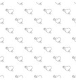 heart with arrow pattern seamless vector image vector image