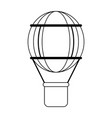 hot air balloon black and white vector image