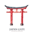 Japan gate isolated on white torii gate japanese vector image vector image