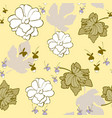 lemon lilac floral seamless repeat pattern vector image vector image