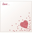Love background with loose red beads vector image