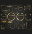luxurious golden framesand borders set vector image vector image
