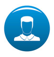 male avatar icon blue vector image vector image