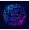 Math round bright symbol vector image vector image
