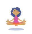 meditation woman beautiful young character vector image
