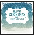 merry christmas vintage card template vector image vector image