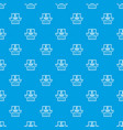 myopia pattern seamless blue vector image vector image