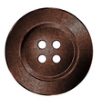 old bronze sewing button in vintage style vector image