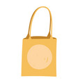 paper bag market with handles isolated icon design vector image
