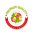 premium quality natural product colorful logo vector image vector image