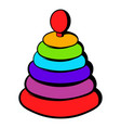 pyramid toy icon icon cartoon vector image vector image