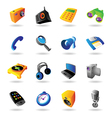 Realistic icons set for various devices vector image