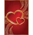 red background for valentine day vector image vector image