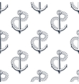 Retro ship anchors seamless pattern with twisted vector image vector image