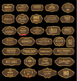 retro vintage gold and brown sale frames vector image vector image