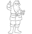 Santa Claus Holding Bell And Waving For Christmas vector image vector image