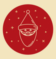 santa claus icon in thin line style vector image