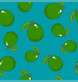 seamless pattern lime on azure background vector image vector image