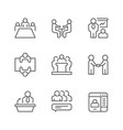 set line icons meeting vector image