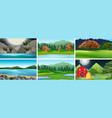 set rural landscape vector image vector image