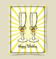 Sketch wedding glasses vector image
