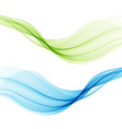 smooth flow the waves of smokeabstract background vector image vector image