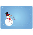 snowman card vector image