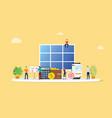solar panel energy business electric saving vector image
