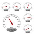speedometers round speed scale vector image vector image