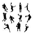 sportsmen silhouettes vector image vector image