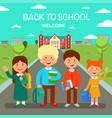 study at school flat vector image