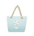 summer beach handbag vector image vector image