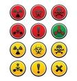 symbols of hazard vector image vector image