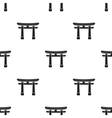 Torii icon in black style isolated on white vector image